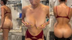 Christina Khalil Nude Shower See Through Video Leaked | BEST XXX HD